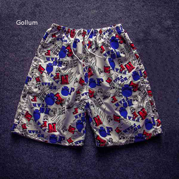 Men Beach Floral Shorts Casual Loose Mid-rised Multicolor Beach Shorts