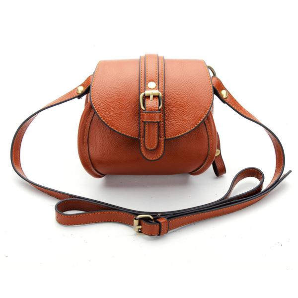 Women PU Leather Belt Decorated Double Zipper Mini Crossbody Bag