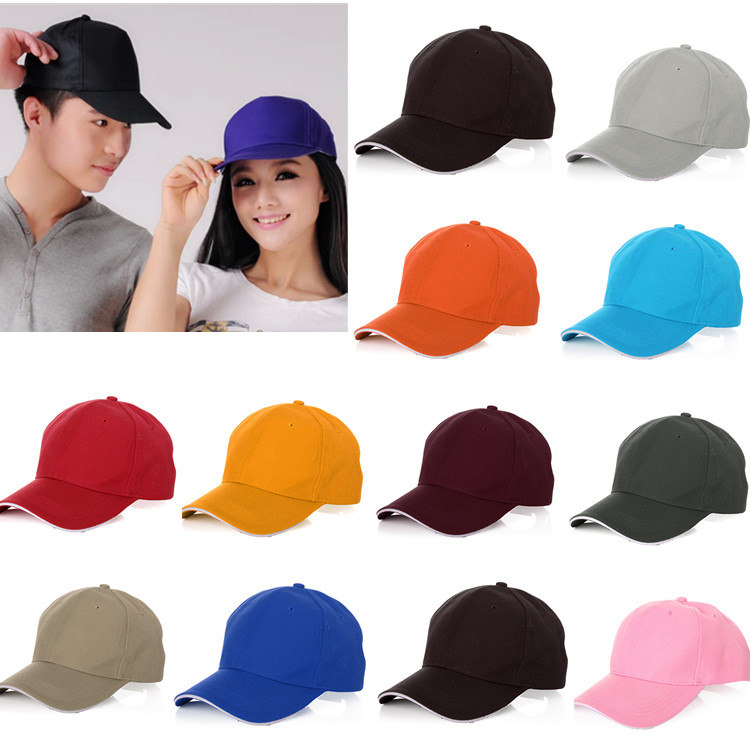 Unisex Outdoor Sport Baseball Golf Tennis Hiking Ball Cap Hat 13 Pure Colors For Choice luxury brand new mink fur ball cap winter hat for women girl s wool hat knitted cotton beanies cap brand new thick female cap