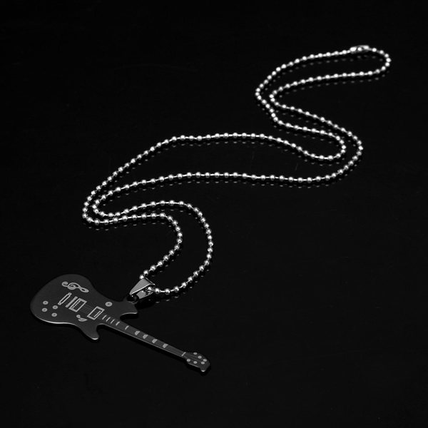 Stainless Steel Guitar Necklace