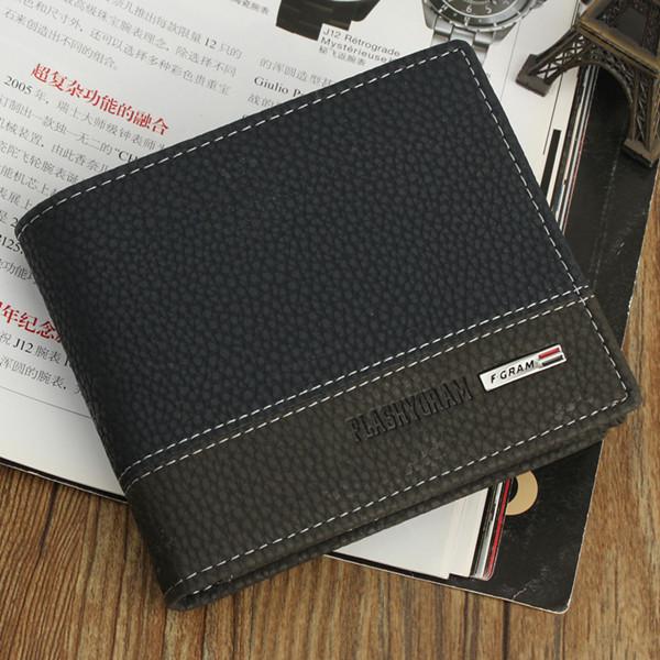 Mens Leather Bifold ID Card Holder Money Wallet Purse Clutch