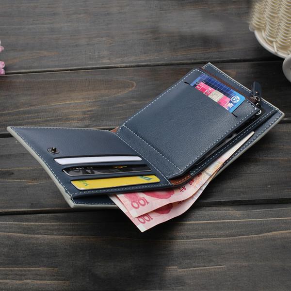 Men Short Wallet PU leather Multifunctional Purse Billfold Card Holder
