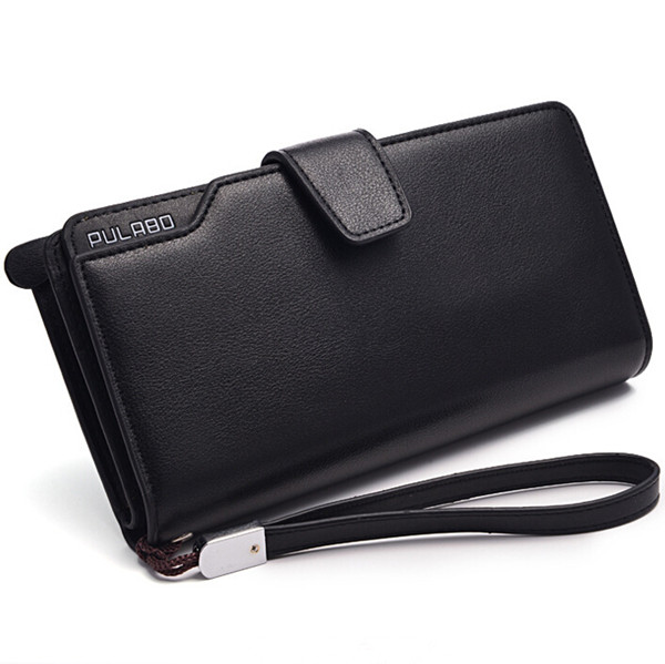 Men Long Wallet Zipper Credit Cards Mobile Phone Holder
