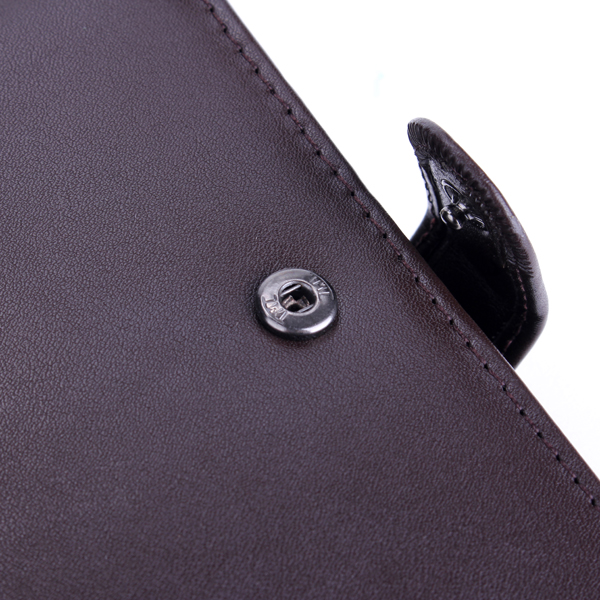 Male Leather Casual Vertical Design Wallet Card Holder Zipper Pocket