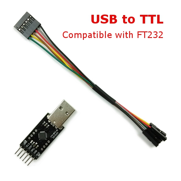 USB to TTL Converter Module for FT232 FTDI MWC Multiwii Arduino with 6P DuPont Line pl2303hx usb to ttl rs232 auto converter module adapter w 4 dupont cables for arduino