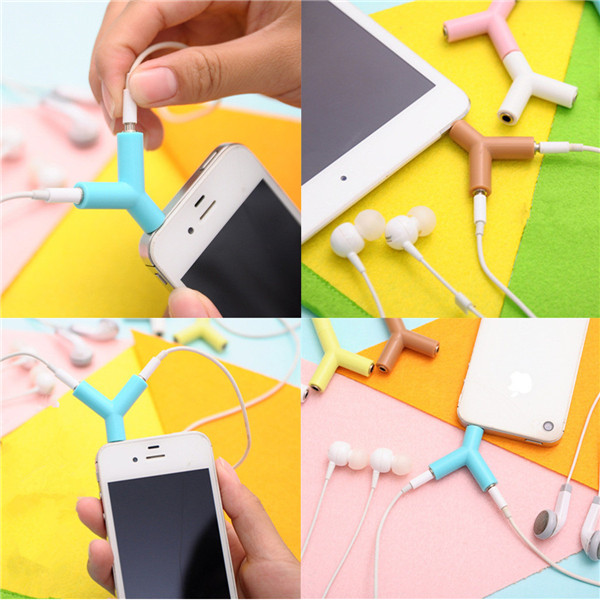 Color Random Y Shape 3.5mm Male To 2 Female Earphone Headset Audio Splitter Adapter Key Ring - EachineEarphone<br>Color Random Y Shape 3.5mm Male To 2 Female Earphone Headset Audio Splitter Adapter Key Ring Features: Note: Color will be sent in random Connectors: Male 3.5mm to 2 Female 3.5mm Splitting Adapter design for easy connection of two audio devices With this adapter you can conveniently share the wonderful music with your friends Plug two sets of 3.5mm headphones into one standard 3.5mm stereo socket with this adapter Great for Apple iPhone, iPod, iPad, Mp3, Mp4, PDA, PC, HIFI system or any media player with a 3.5mm earphone or jack Package Included: 1 x 3.5mm to Dual 2 Female Audio Splitter Adapter Detail Pictures:<br>