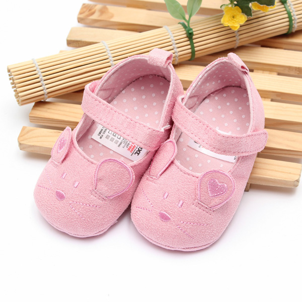 Baby Girl Cute Mouse Soft Sole Crib Shoes Toddler First