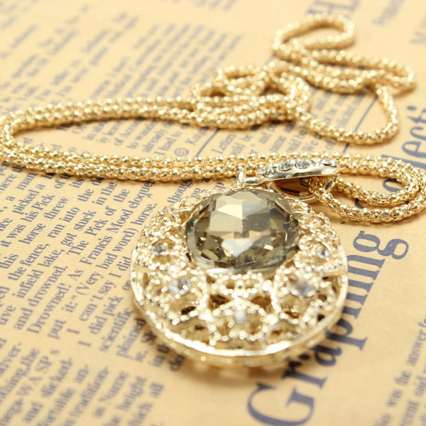 Oval Crystal Necklace