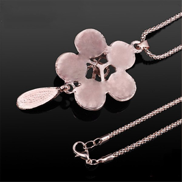 Elegant Opal Flower Necklace