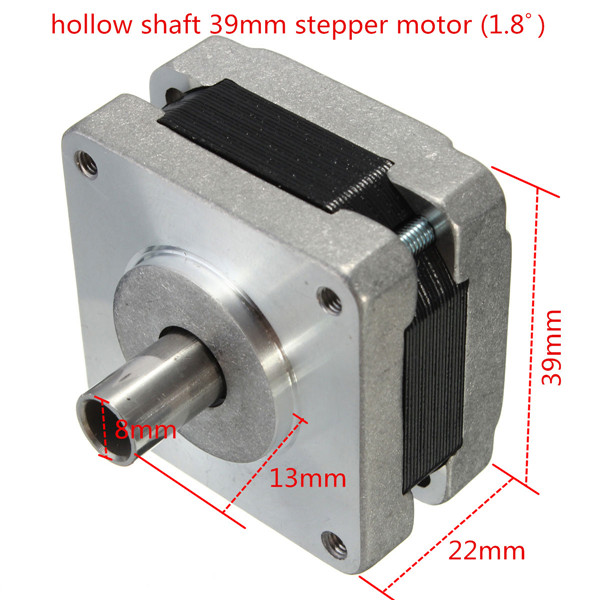 39mm Hollow Shaft Hybrid Stepper Motor 4 Phase 5 Wire