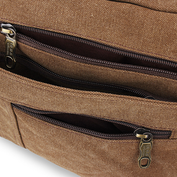 Men's Canvas Vintage School Military Shoulder Messenger Bag