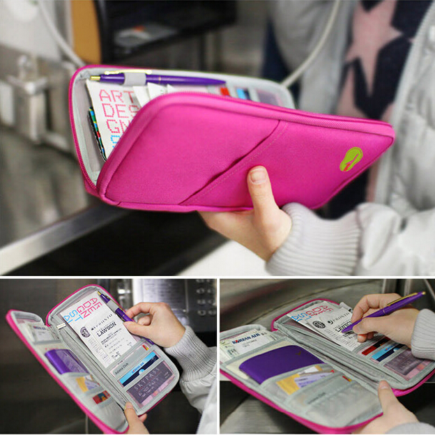 Фото Portable Multifunctional Travels Card Ticket Holder Wallet Purse Storage Bag