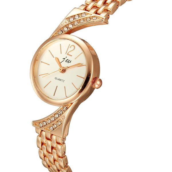 Fashion Women Rose Gold Stainless Steel Bracelet Quartz Watch