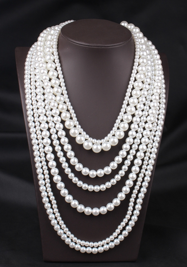 Multilayer Pearl Choker Necklace