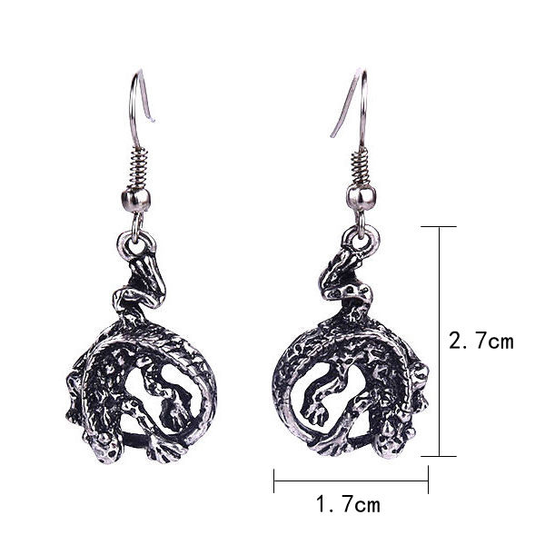 Antique Silver Animal Earrings