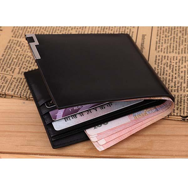 ダンテブランドメンズ本物の牛革レッチリッチグレインショートウォレット財布カードホルダー