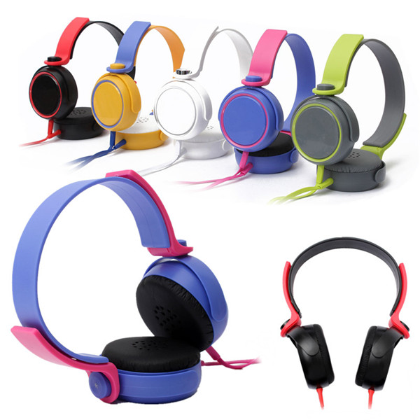 Colourful 3.5mm Stereo Headphone Over-Ear Earphone Headset With Microphone