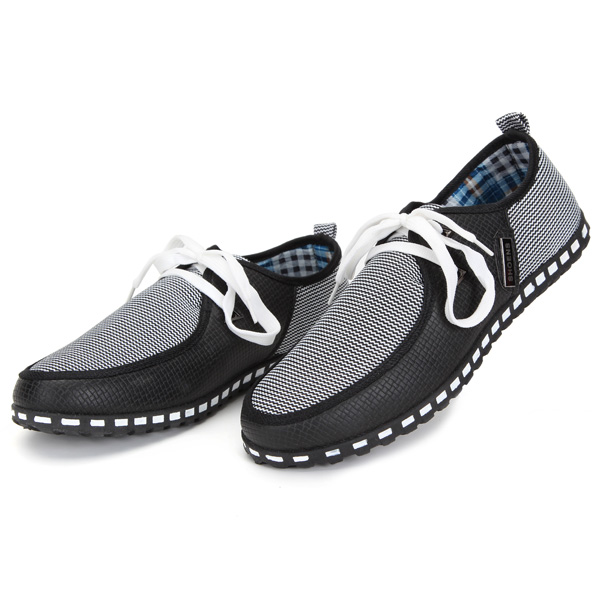 Wholesale Mens Lace Shoes Fashion Leather Breathable Sneakers
