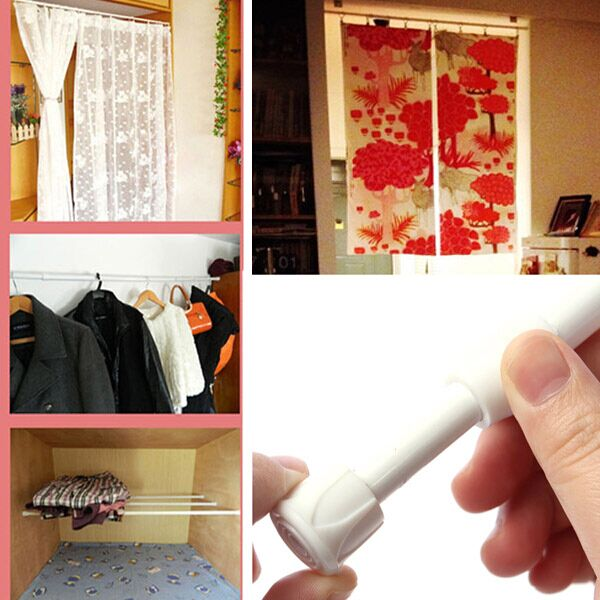 - 55-90cm Extendable Window Curtain Telescopic Rod Shower Curtain ...