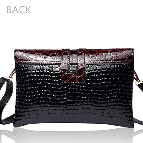 Patent Leather Crocodile Women Crossbody Bags Casual Shoulder Bags