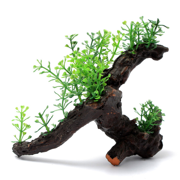 Aquarium artificial plant aquatic grass wood for fish tank for Artificial fish pond plants