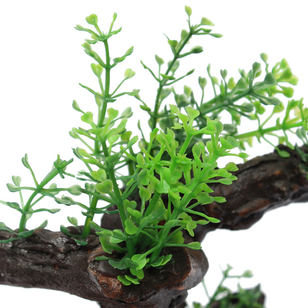 Aquarium fish tank artificial plant aquatic grass wood at for Artificial fish pond plants