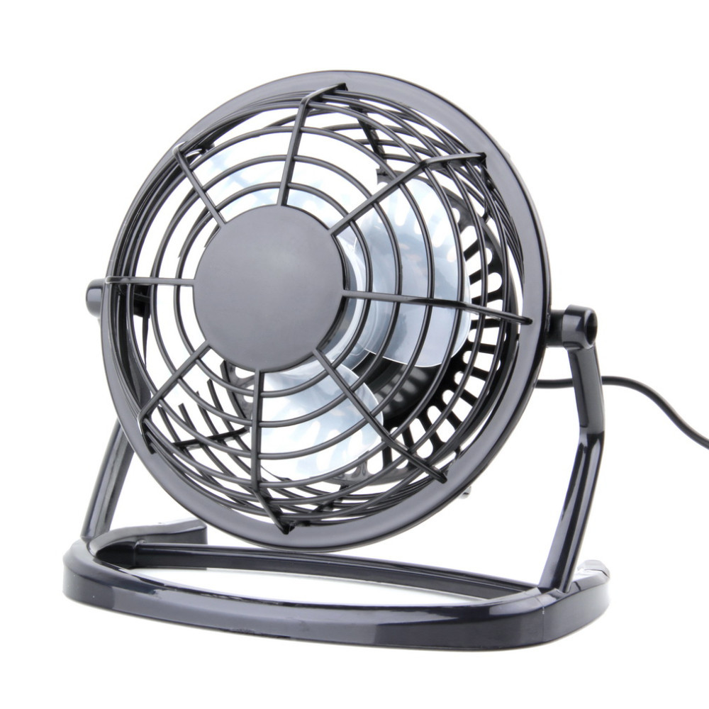 Portable Mini USB Black Ultra-quiet Desk Cooling Fan Cooler For PC Laptop Notebook icoco portable mini fan durable usb rechargeable strong wind cooling fan with side light for room office outdoor travel