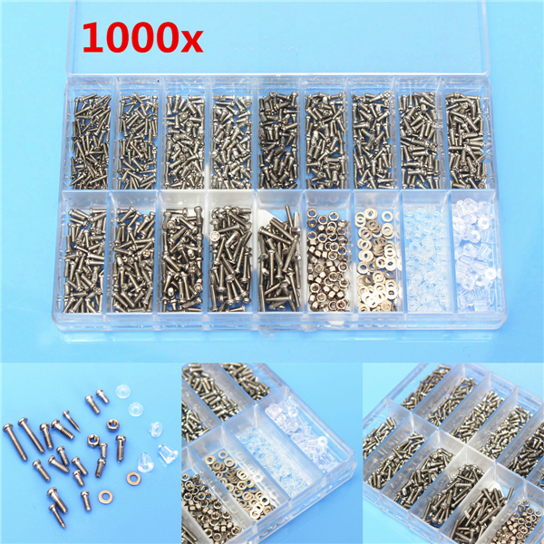 1000pcs Glasses Sunglass Spectacles Screws Nut Repair Kit With a Plastic Case high quality 440mm 17 inch hand riveter pull rivet nut riveting tools with one die of m5 free shipping bt 604 auto remove nut