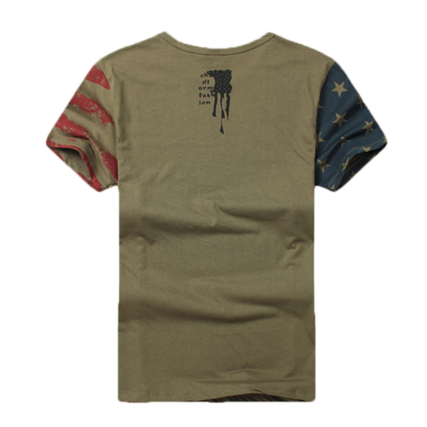 Battlefield Fans Summer Camo Military Flag Men Outdoor Lovers Short Sleeve T-shirts