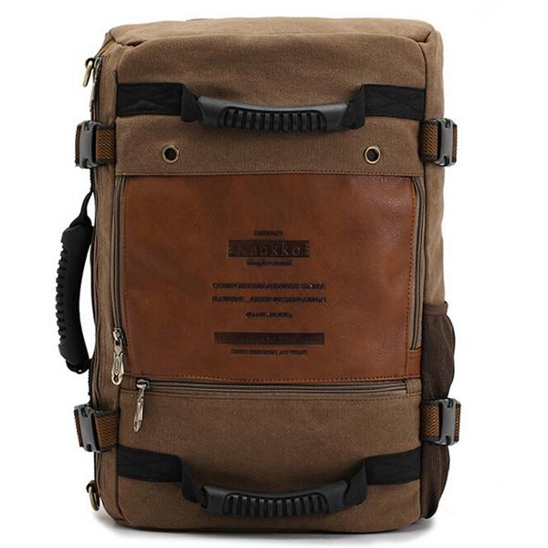 Men Bag, Canvas Travel Backpack, Outdoor Hiking Crossbody Bag, Large Capacity Camping Handbag