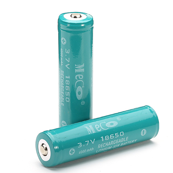 2PCS MECO 3.7v 4000mAh Protected Rechargeable 18650 Li-ion Battery 2pcs new original lg hg2 18650 battery 3000 mah 18650 battery 3 6 v discharge 20a dedicated electronic cigarette battery power