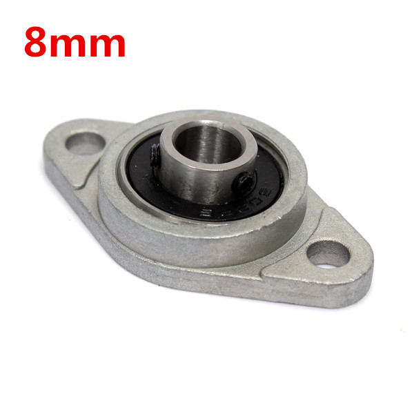 8mm Inner Diameter Zinc Alloy Pillow Block Flange Bearing KFL08 free shipping high quality 15267 full zro2 ceramic deep groove ball bearing 15x26x7mm bike bearing wheel hub bearing
