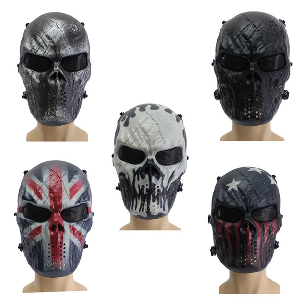 Airsoft Adults CS Field Game Skeleton Warrior Skull Paintball Mask chief sw2104 skull style full face mask for war game cs black