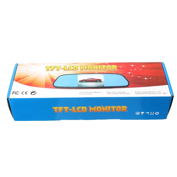 12v voiture tft lcd moniteur miroir sans fil vue arri re for Miroir wireless