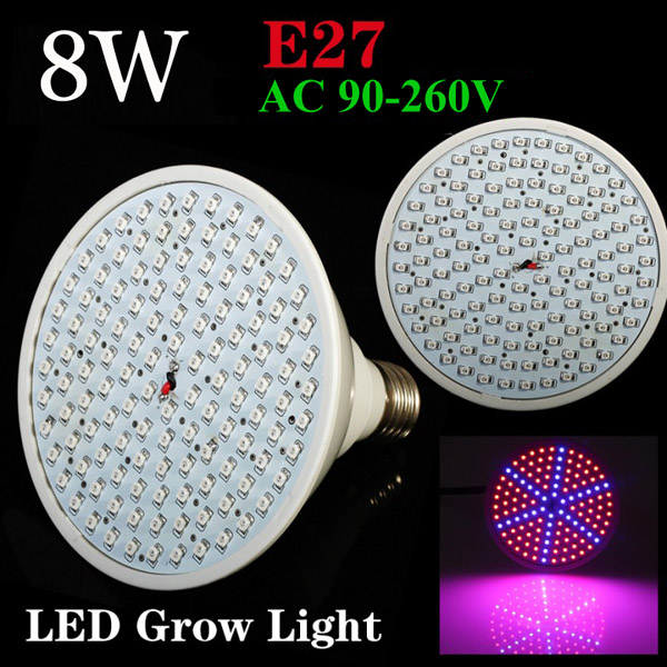 8W E27 Garden Plant Growth LED Bulb Greenhouse Plant Seedling Light от Banggood INT
