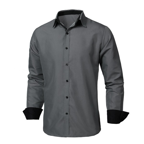 Mens casual slim fit long sleeve shirts formal button up for Made to measure casual shirts