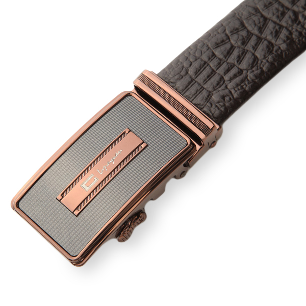 120CM Brand C Men Belt First Layer Cowhide Embossed Alligator Automatic Buckle Model 004