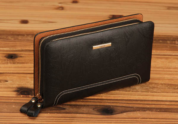 PABOJOE Genuine Leather Long Wallet Purse Business Clutch Bag Handbag
