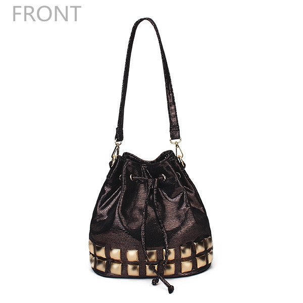 Women Bright Color Bucket Bags Crossbody Bags Casual Rivet Shoulder Bags