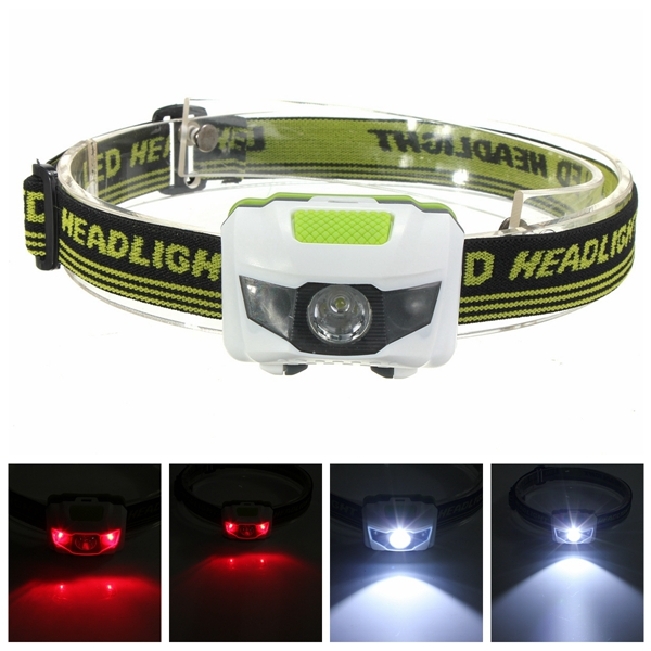 R3+2LED Super Bright Mini Headlamp Headlight Flashlight Torch Lamp 4 Models pzcd pz 16 skull style creative 2 led mini red flashlight keychain white 2 x ag3 included