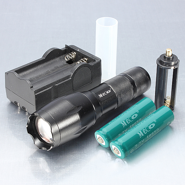 Meco XM-L2 2000LM Zoomable LED Flashlight 18650 Suit portable 8000 lumens flashlight 5 mode cree xm l t6 led flashlight zoomable focus torch by 1 18650 or 3 aaa battery