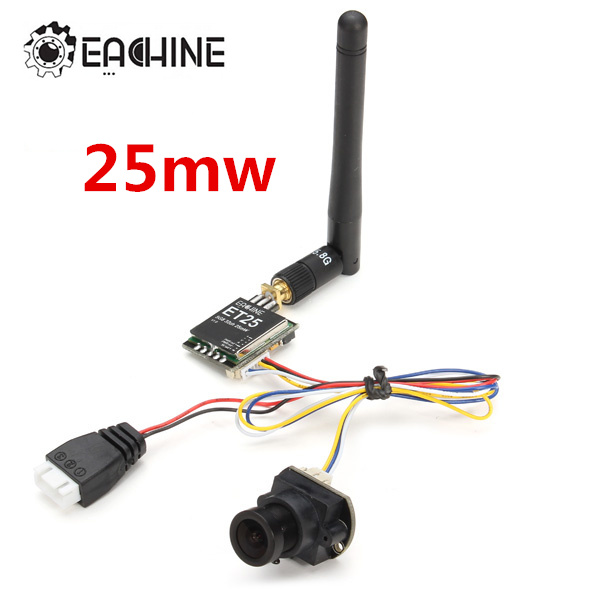 Eachine 700TVL 25mW 1/3 Cmos FPV 110/148 Degree Camera 5.8G w/32CH Transmission new arrival eachine 700tvl 600mw 1 3 cmos fpv 110 148 degree camera w 32ch transmission for fpv system
