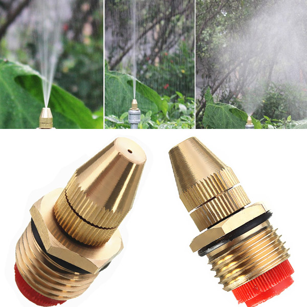 1/2 Inch Brass Adjustable Sprinkler Garden Lawn Atomizing Water Spray Nozzle oxo good grips 3 in 1 avocado slicer green garden lawn maintenance