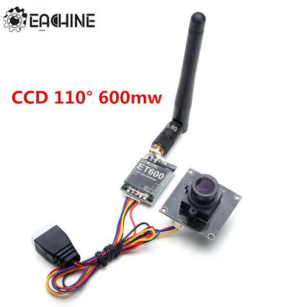Eachine 800tvl CCD 110 Degree FPV Camera Lens w/ 5.8G 600mW Transmitter eachine 700tvl 2 6mm lens 1 3 cmos 110 degree fpv mini camera