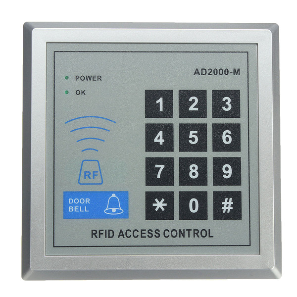 Security RFID Proximity Entry Door Lock Access Control System 10 Keys diy rfid door access control system kit set electric strike lock id card keytags power supply exit button door security system