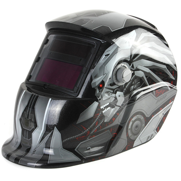 Transforme Solar Auto Darkening Welding Helmet TIG MIG Welder Lens Mask din7 din12 shading area solar auto darkening welding helmet protection face mask welder cap for zx7 tig mig welding machine