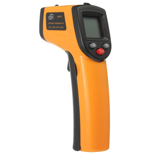 GM320 Non-Contact Laser LCD Display Digital IR Infrared Thermometer Temperature Meter Gun -50℃ to 330℃ 0 6 lcd portable non contact infrared thermometer white 50 220°c range