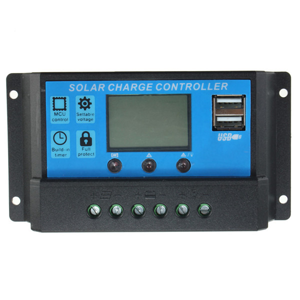 Intelligent Home 20A 12V/24V LCD Display Solar Charge Controller with USB Port new mppt 60a lcd display solar charge controller 12v 24v 36v 48v auto solar pv battery charge regulator with rs232 rs485 port