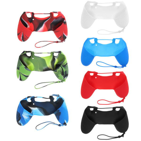 Silicone Case Skin Grip Rubber Cover For Sony PlayStation 4 PS4 Controller