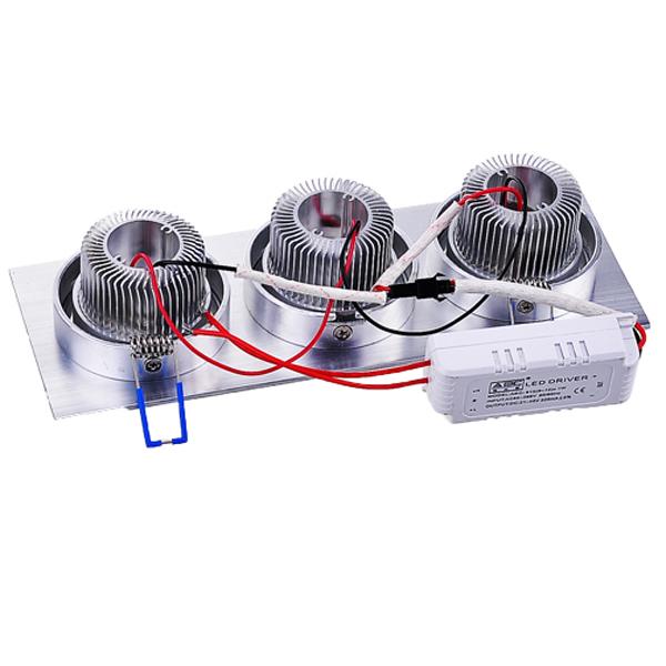9W 800LM 5500-6000K Pure White LED Ceiling Bulb Indoor 85V-265V